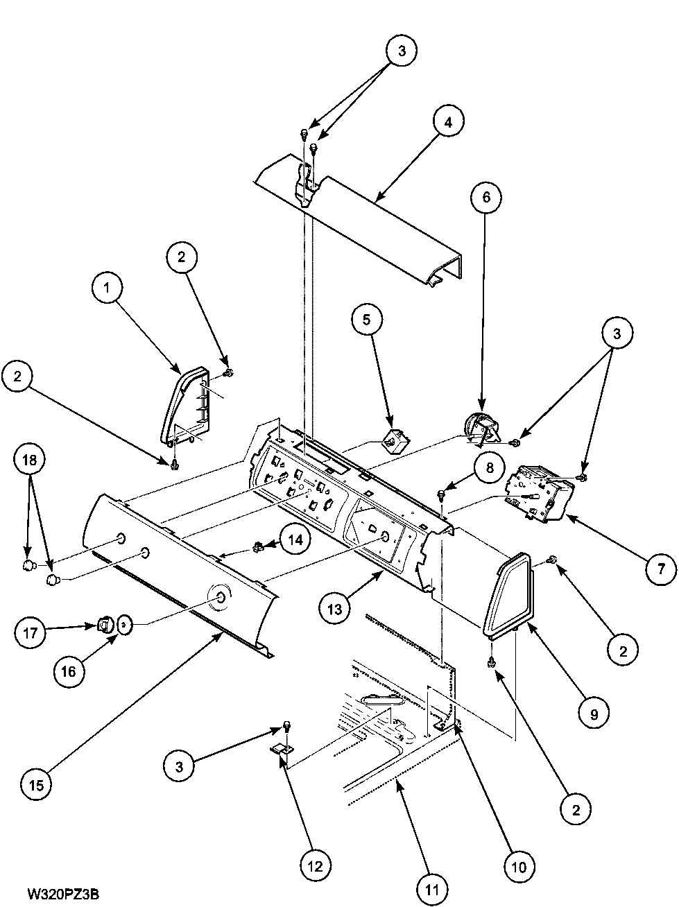 Lwa40aw2 top loading washer control panel parts diagram