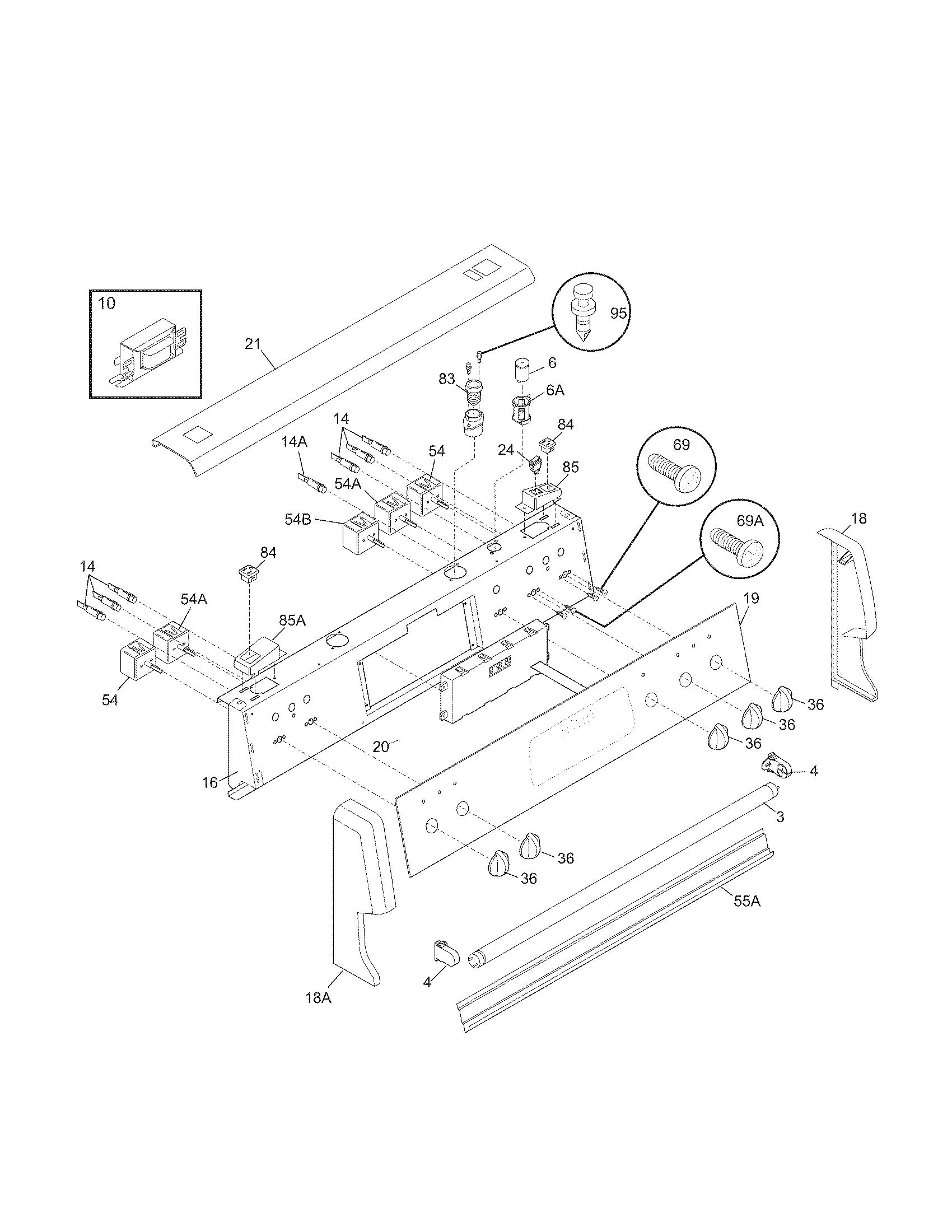 Frigidaire Pglef385cb2 Electric Range Timer