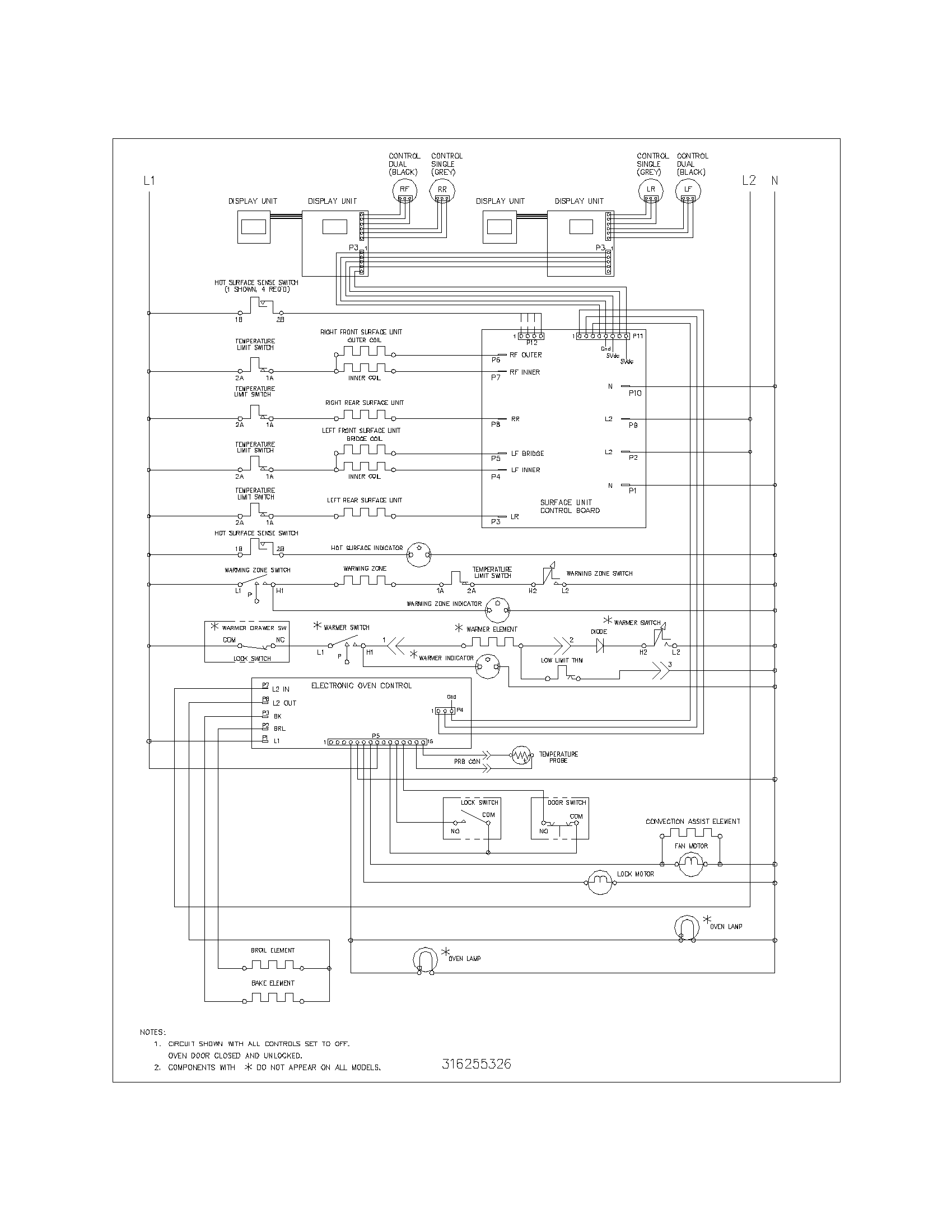 Surface Wiring Diagram Imperial Diagrams Detailed Range Auto Electrical Basic Schematic Convection