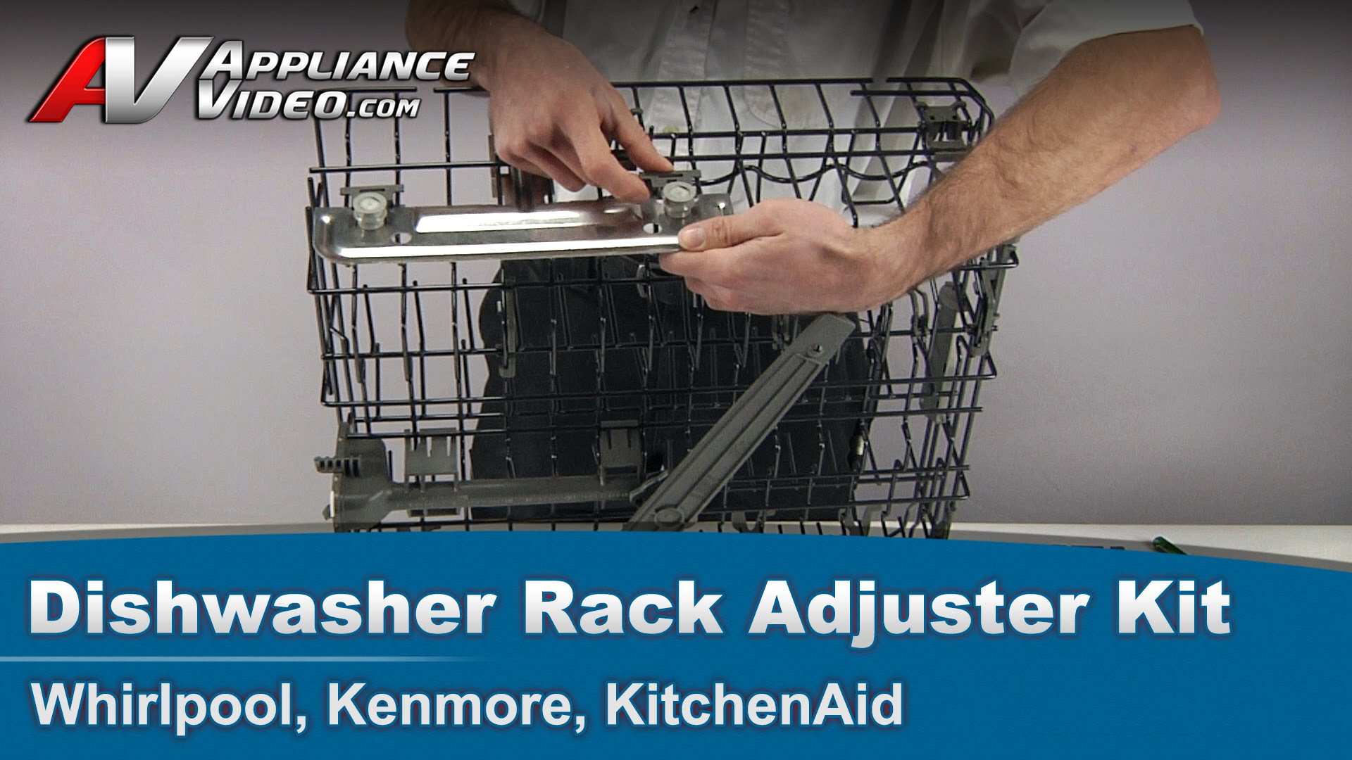 Whirlpool Kenmore KitchenAid Dishwasher Rack Adjustment Kit V Rail Vrack Appliance Video