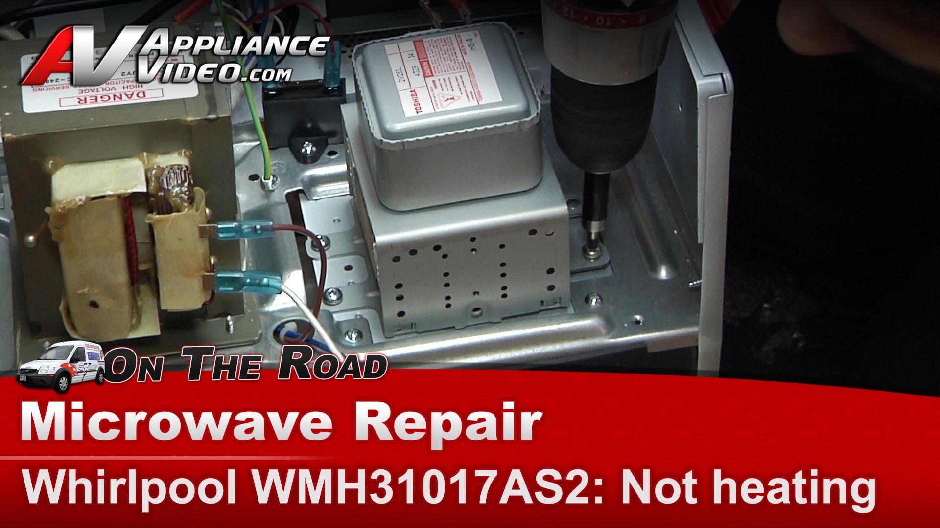 whirlpool wmh31017as2 microwave repair