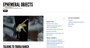 ephemeral objects screenshot
