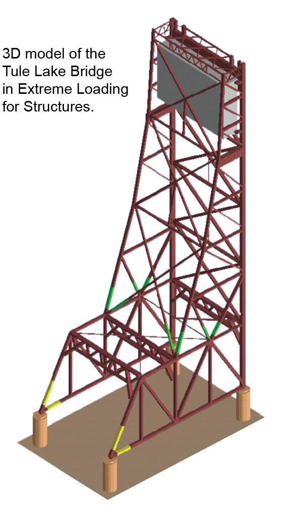 Bridge Demolition - 3D Model of the Tule Lake Lift Bridge Implosion Design - Applied Science International