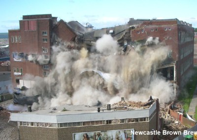 New Castle Brewery Implosion