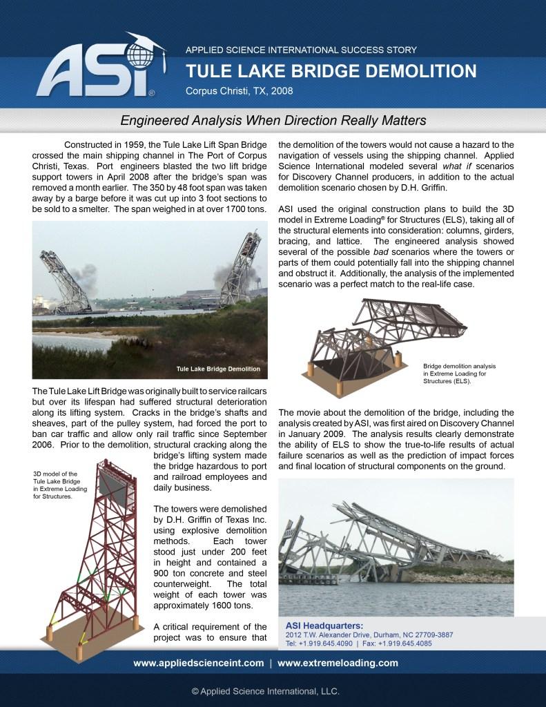 Case Study: Tule Lake Lift Bridge Implosion Design
