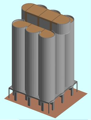 Demolition Analysis - Ambev Silo Demolition: ELS model of the small silos - Applied Science International