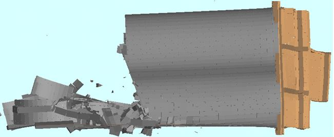 Demolition Modeling - Ambev Large Silo Demolition: T = 7 sec. - Applied Science International