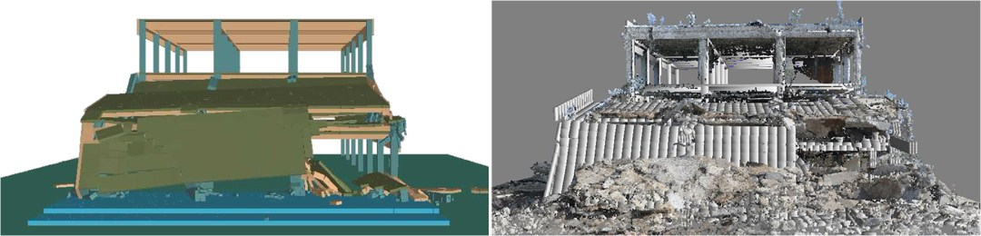 Structural Analysis Software - ELS Results Compaired to 3D Laser Scan of Site After Demolition - Applied Science