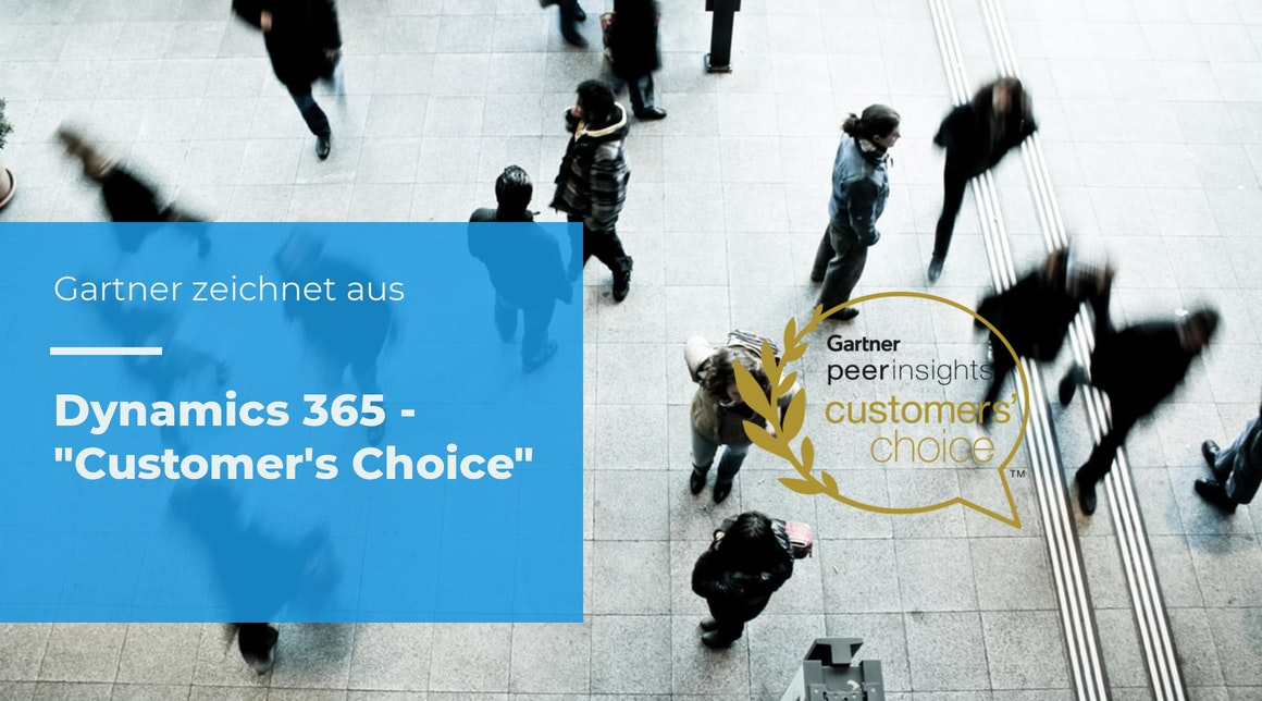 "Microsoft Dynamics 365 ist ""Customers' Choice for CRM Lead Management"""