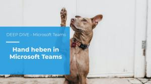 Hand heben in Microsoft Teams