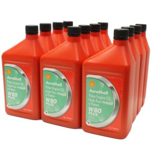 AeroShell Oil W 80 Plus 12x1-Quart Cans