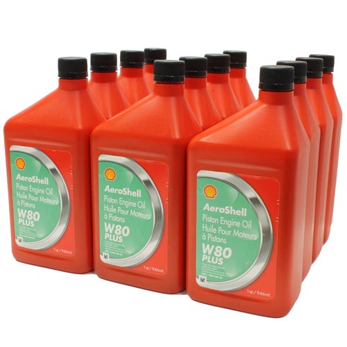 AeroShell Oil W 80 Plus 12x1-Quart Cans