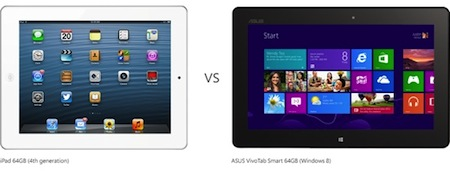Apple iPad contre Microsoft Asus