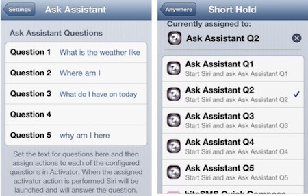 Ask Assistant Cydia 2