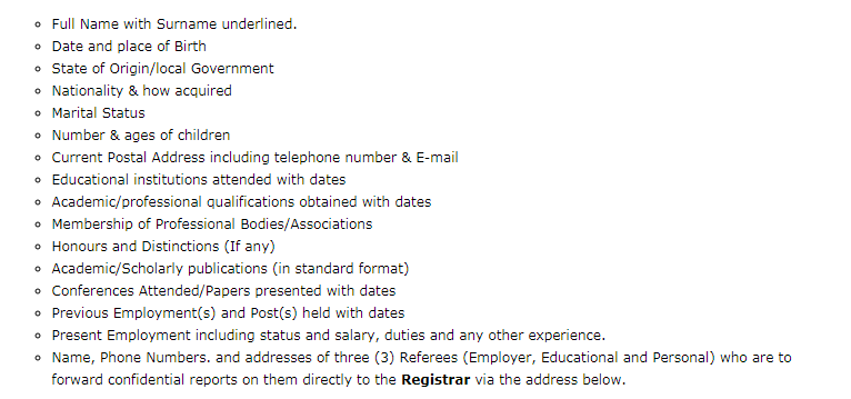 Nigeria Police Academy Job Application Requirements