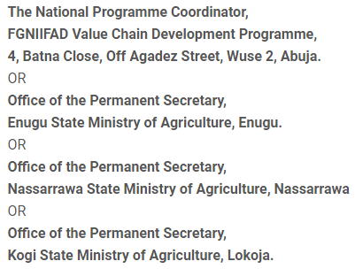 recruitment at Federal Ministry of Agriculture and Rural Development (FMARD)