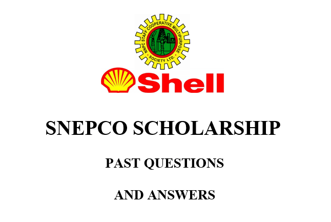 NNPC/SNEPCo Scholarship Past Questions and Answers PDF Download