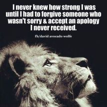 forgive who isn't sorry