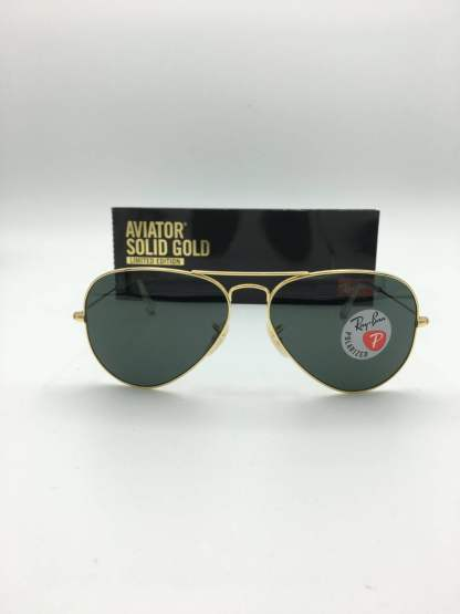 Ray-Ban-3025K-aviator solid gold-limited edition-160-N5