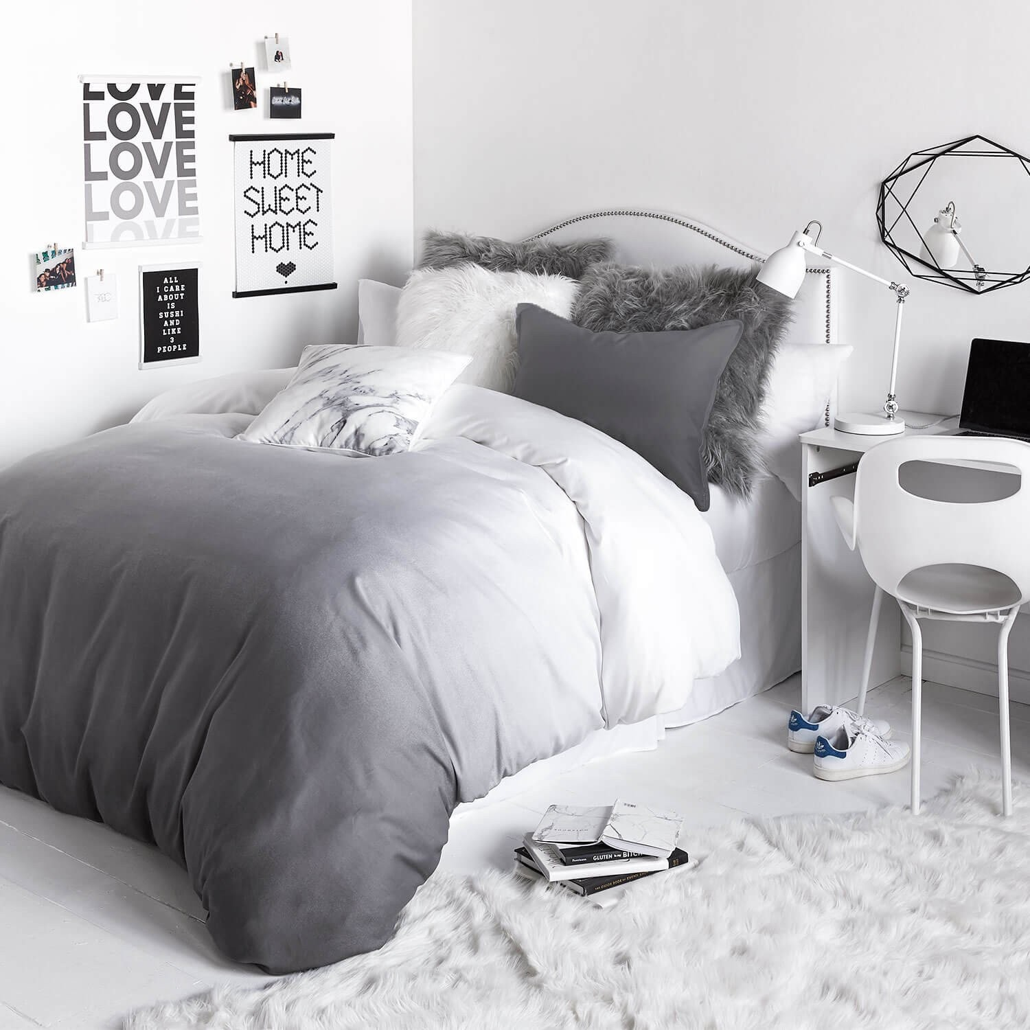 All White Bedroom Interior Design Grey And Ideas Atmosphere Gray Tumblr Master On Bedrooms Feminine Off Small Apppie Org