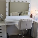 Ikea Vanity Table With Lights Mirror For Bedroom Modern Makeup Set Alex Drawer Malm Apppie Org