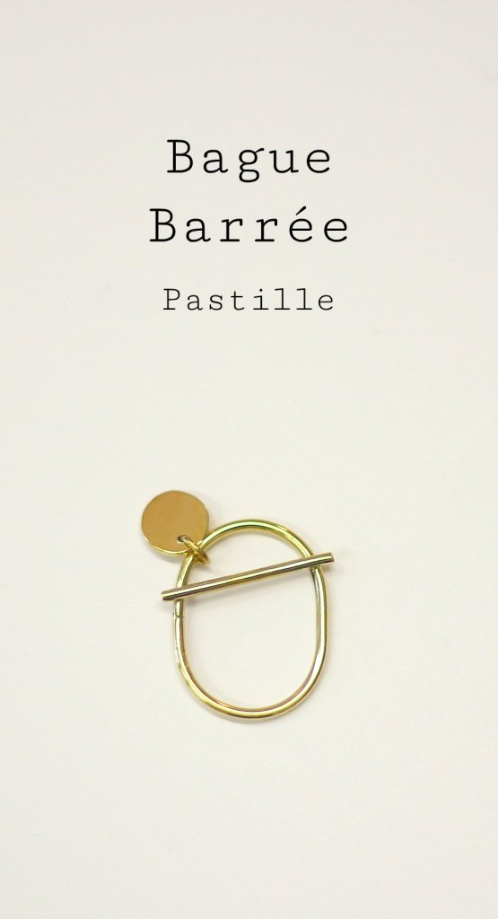 Bague Barrée et pastille - une création à retrouver en images sur www.apprendre-la-bijouterie.com