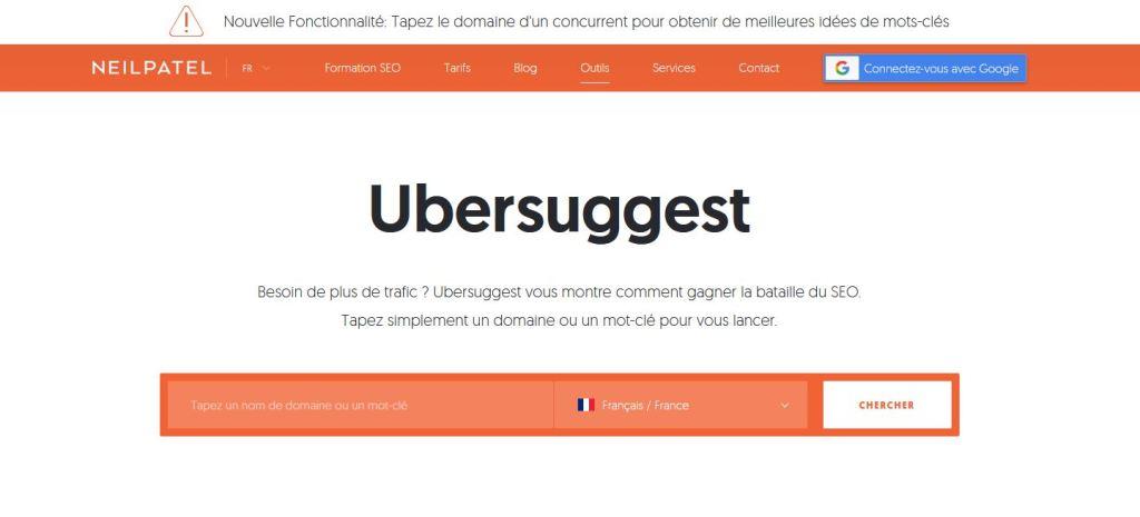 Ubersuggest, l un des meilleurs outils SEO gratuits