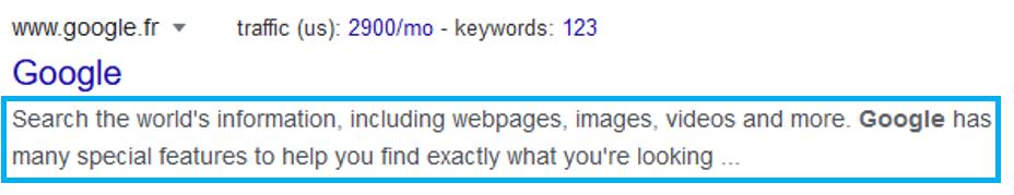 Exemple de meta description