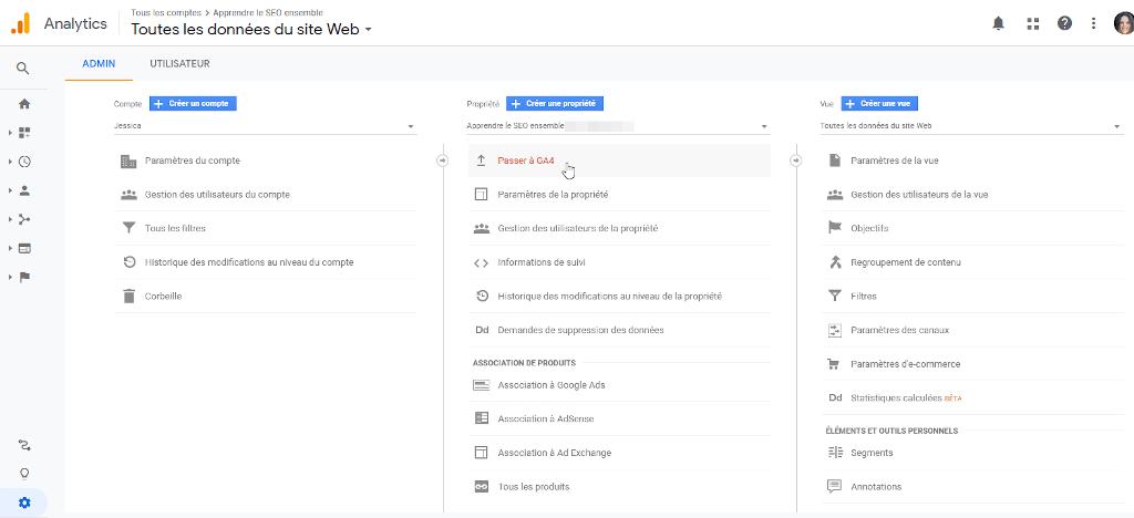 Comment passer à GA4 depuis Google analytics Universal
