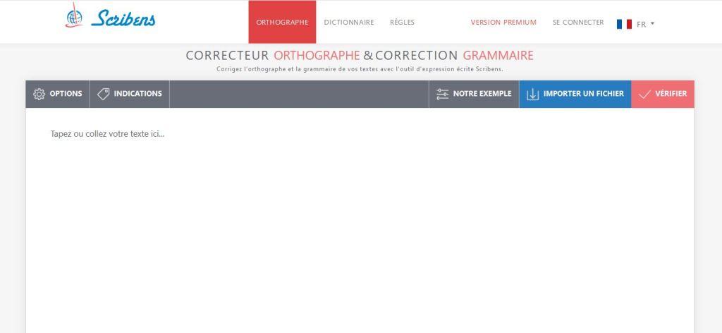 Scribens pour la correction et la verification de l orthographe et de la grammaire