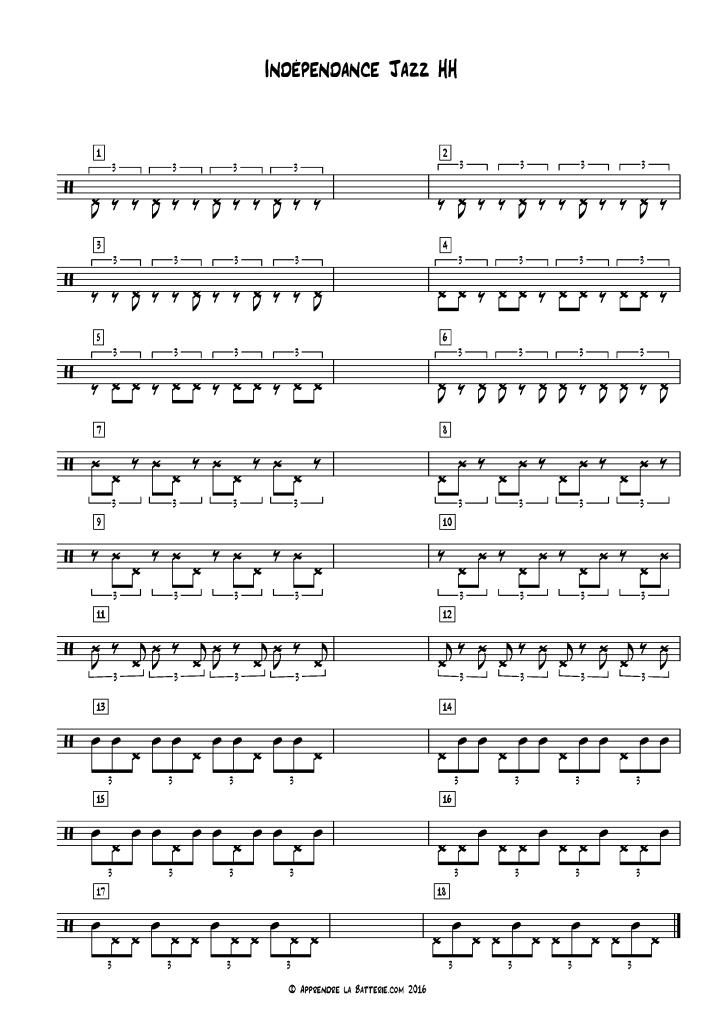 Indépendance jazz avec charleston