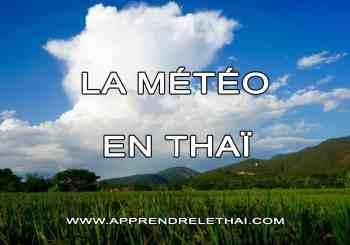 La météo en thaï