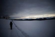 Marche dans la neige