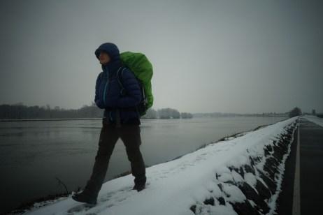 Le Danube sous la neige