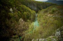 Vue sur la rivière Korana