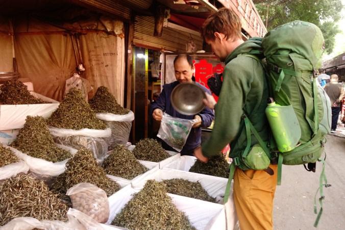 Thé - Marché à Lanzhou