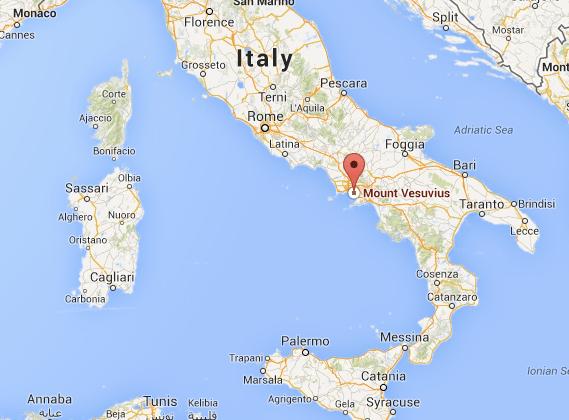 Image result for vesuvius map