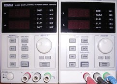 Image of a TENMA bench-top power supply unit