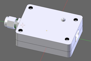 Image of the 3D-modelled enclosure for the USB-connectable temperature-sensing device