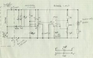 Image of the circuit design for the doorbell alert light device