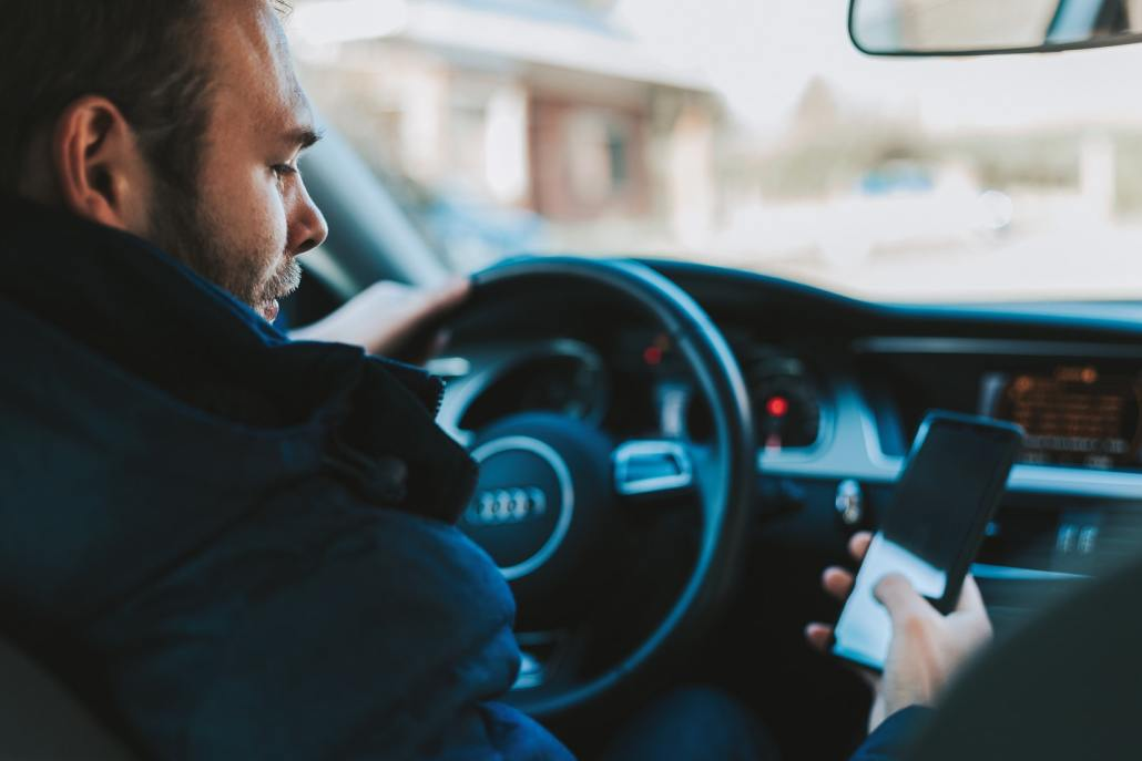 driving while using your phone