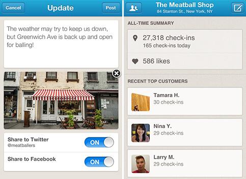 Foursquare выпустило мобильное приложение для бизнеса ...