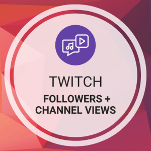 Buy Twitch Followers + Views (Channel)