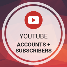 Buy YouTube Accounts + Subscribers