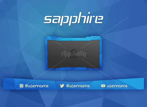 Buy Sapphire Twitch Overlay (Stream)
