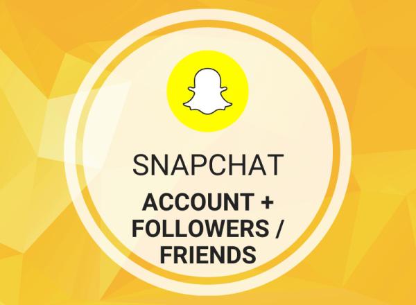 Buy Snapchat Account (PVA) + Followers/Friends