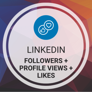 Buy LinkedIn Followers + Profile Views + Likes