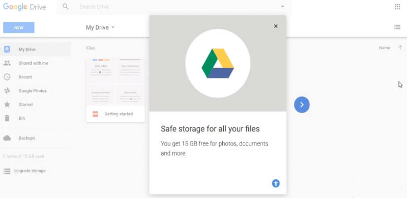 how to use google drive share