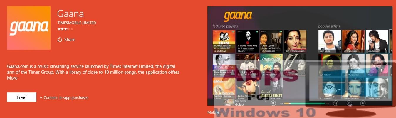 Download Gaana app for PC Windows & Mac   Apps For Windows 10