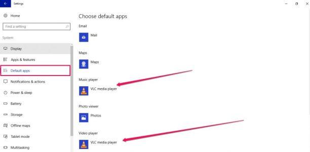 set-vlc-as-default-app-in-windows-10